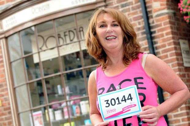 Sue Bradley is taking on the challenge of the Race for Life 10K event for the 12th time this Sunday                                                                                        n133544