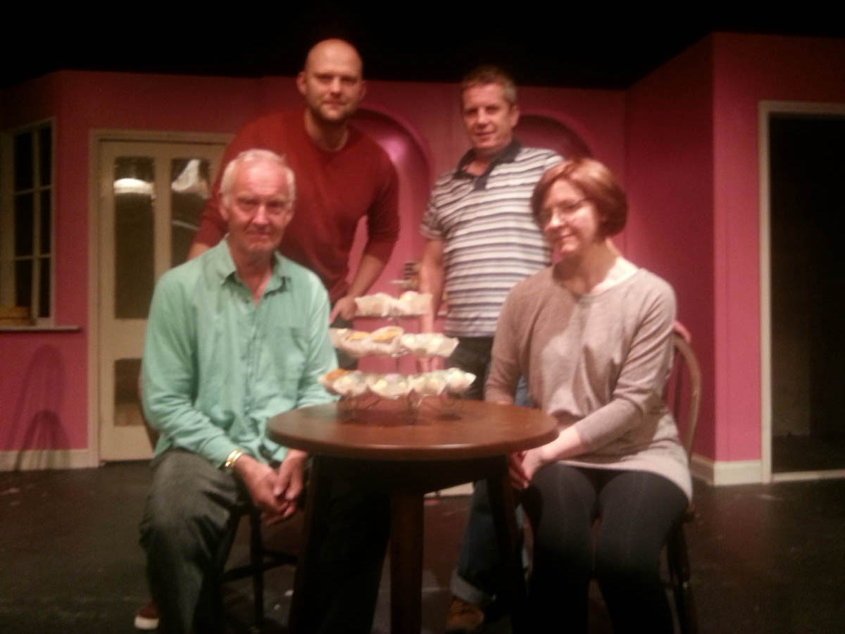 The cast of A Piece of Cake will be putting on the show at Knutsford Little Theatre next week
