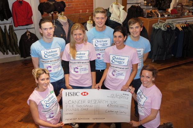 The team from Knutsford and Blackbrook raised £5,000 after climbing Ben Nevis
