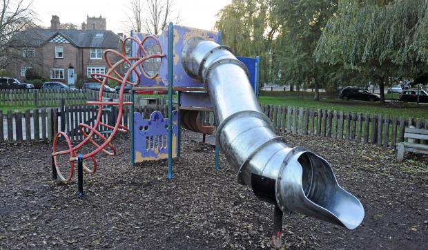 Human faeces was found on the slide in November last year