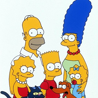 The Simpsons has topped a TV poll