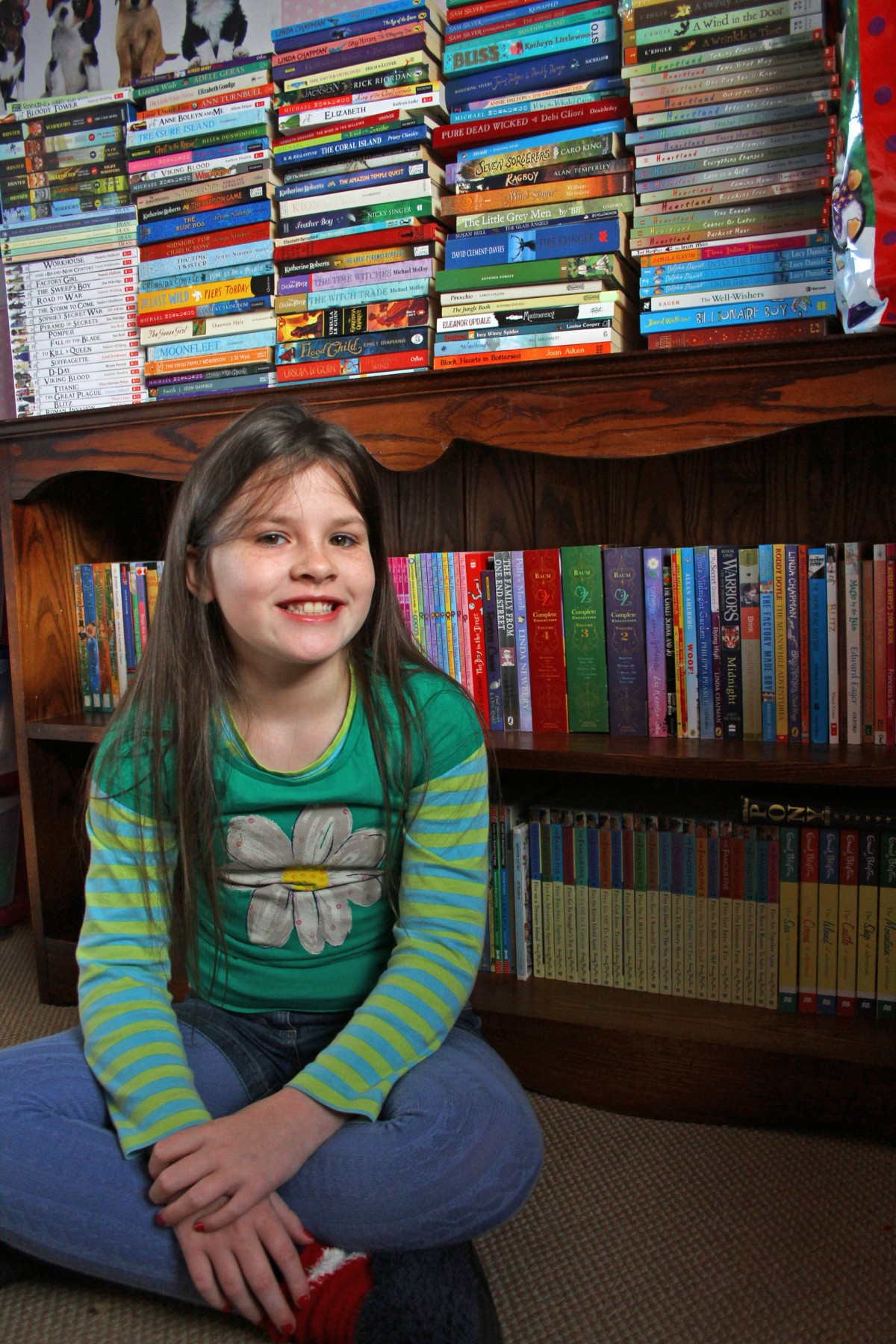 Nine-year-old Faith's 'mind blowing' book challenge