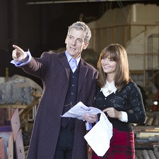 Peter Capaldi stars with Jenna Coleman in Doctor Who