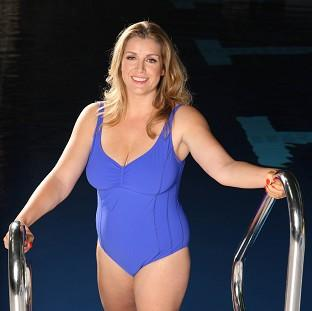 Penny Mordaunt, the Conservative MP for Portsmouth North, during filming of ITV show Splash!