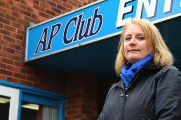 Holmes Chapel Parish Council Clerk Nicola Clarke at the AP Club which was shut down in December