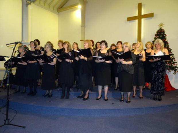 The Knutsford Star Choir performing at Knutsford Methodist Church