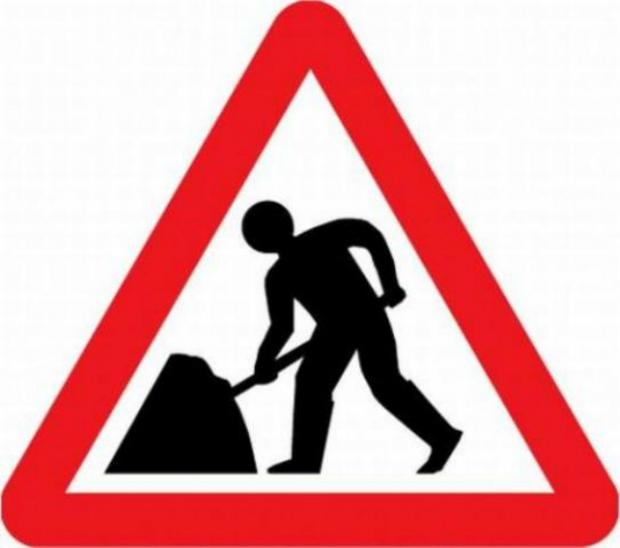 Road closure notice for a Mobberley road