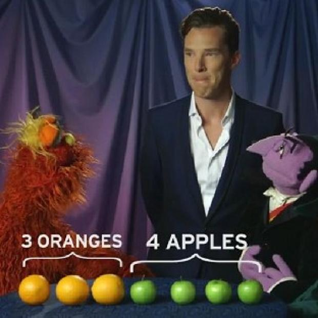 Knutsford Guardian: Benedict Cumberbatch gets fruity with Count von Count and Murray Monster