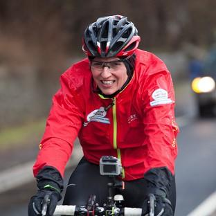 Davina McCall has faced horrendous weather conditions during her Sport Relief challeng