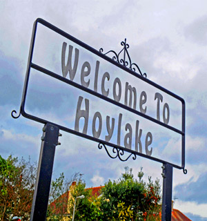 Knutsford Guardian: Hoylake sign