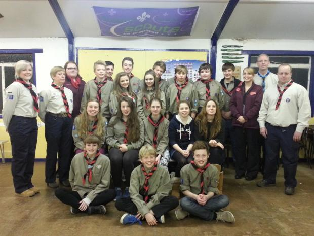 Kite Explorer Scouts of Knutsford were presented with a donation from Kate Norton of Sainsbury's Knutsford at a recent meeting
