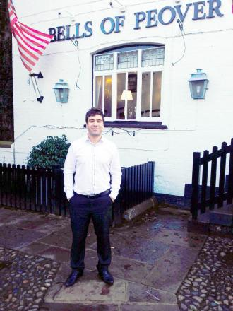 Jose Lourenco outside the Bells of Peover.