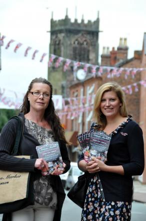 Vicky Jackson, pictured right, will be taking over the running of the monthly market.  She is pictured with former Artisan Market business partner Denise Valente