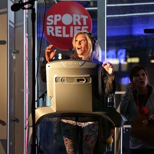 Radio 2 presenter Jo Whiley during her Sport Relief challenge