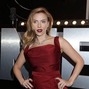 Scarlett Johansson at the Captain America: The Winter Soldier premiere in London