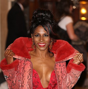 Sinitta suffered a wardrobe malfunction on the red carpet