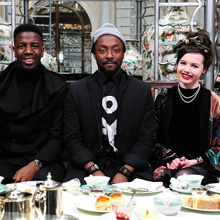 Will.i.am has taken his team and their mums out for a Mother's Day tea