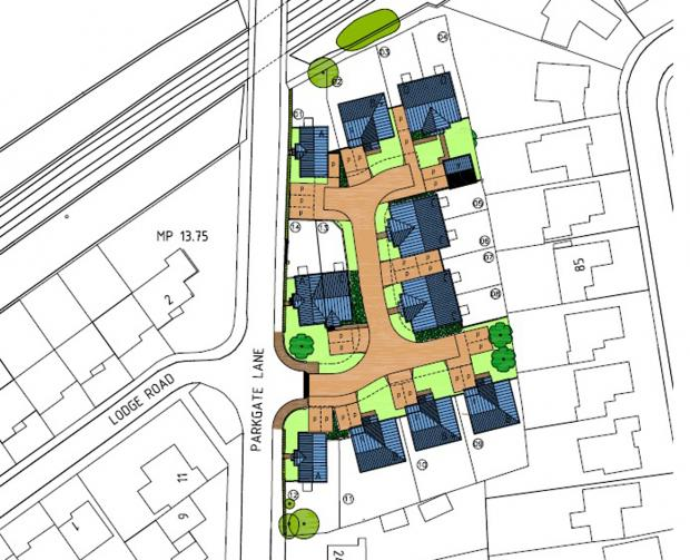 Plans for 14 homes off Parkgate Lane have been rejected by councillors.