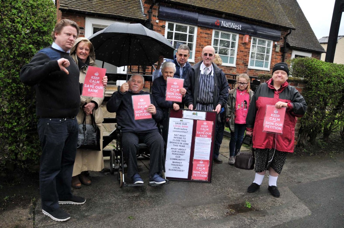Residents and businesses have rallied together to fight the Nat West closure in Chelford