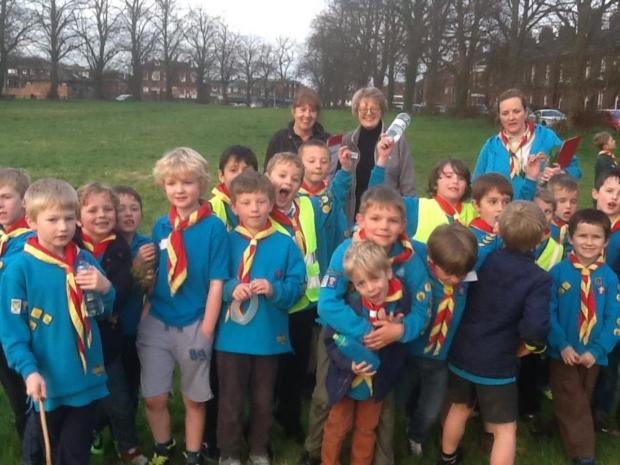The Heritage Centre volunteers took the 24-strong group of Apache Beavers for an exploration of Knutsford