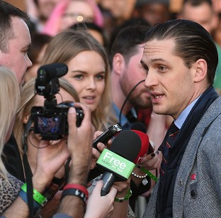 Hardy in demand at Locke premiere