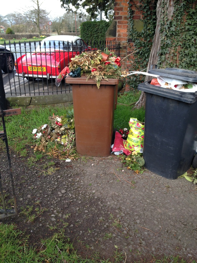 Woman told not to clear up church rubbish
