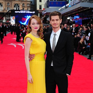 Couple Emma Stone and Andrew Garfield star in The Amazing Spider-Man 2 together