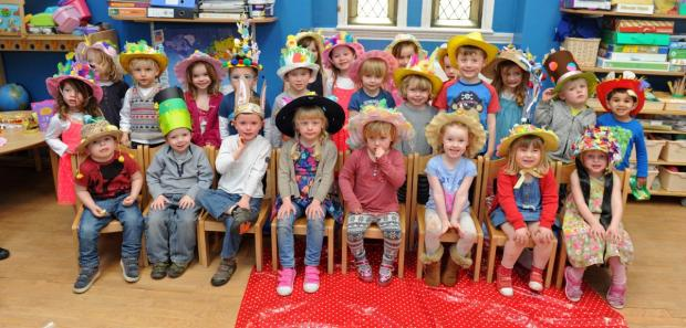 Children from Knutsford Day Nursery dressed up for Easter