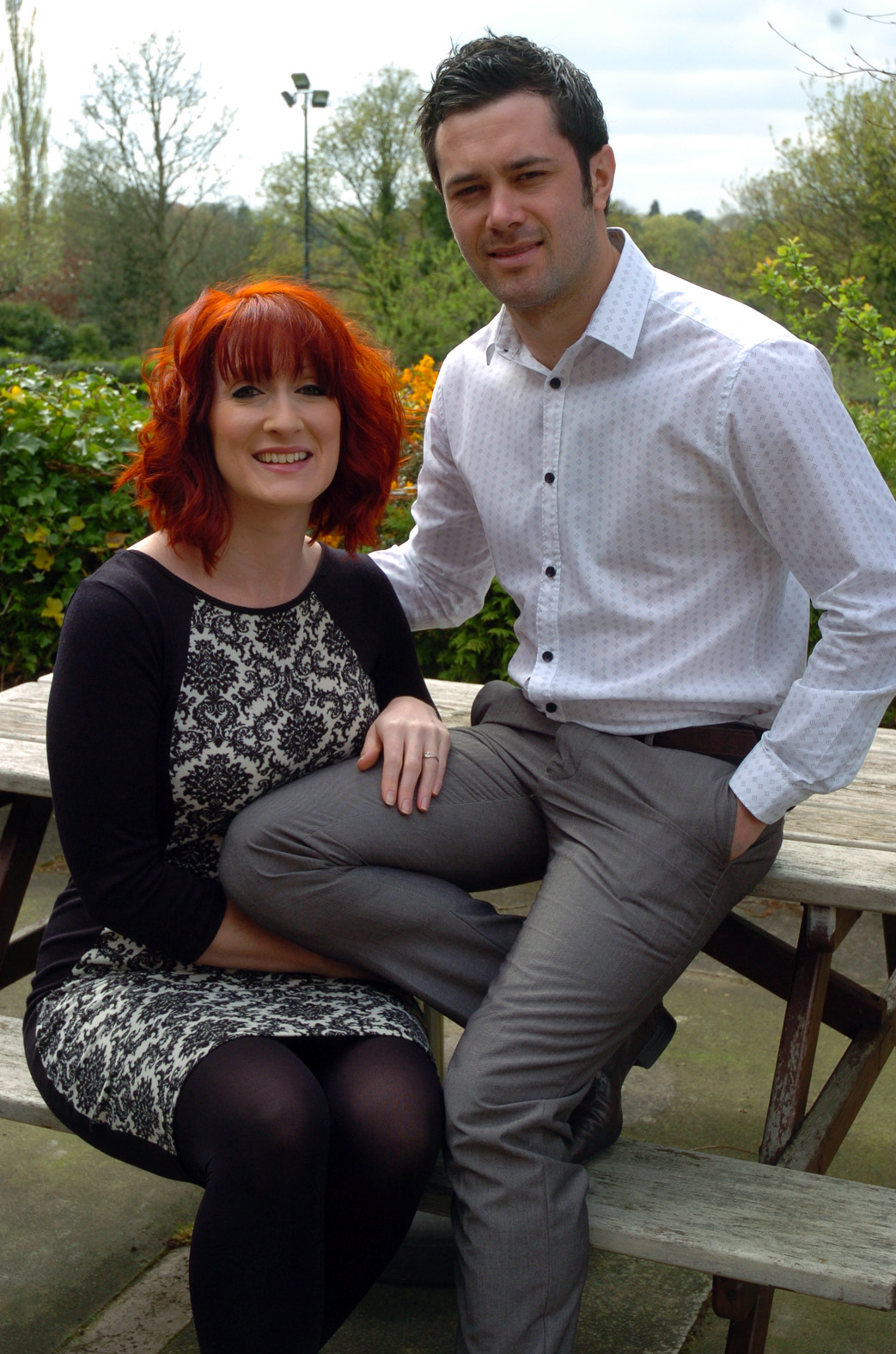 Zoe Naylor and Matt Blythe, the new landlords of The Legh Arms in Knutsford, promise a great atmosphere           M141763