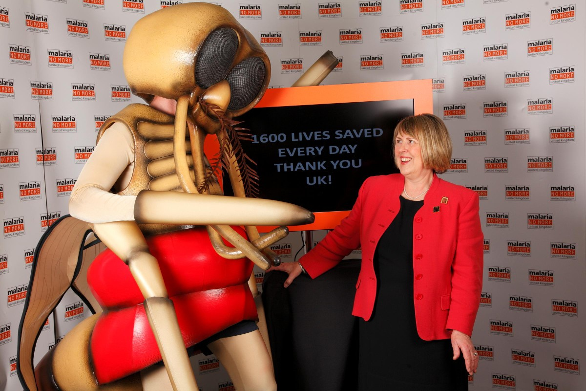 Fiona Bruce MP at the recent Getting Malaria? event in Parliament