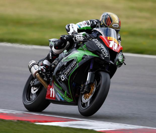 Knutsford rider Adam Jenkinson battled a braking problem during the opening round of the Pirelli Superstock 1000 National Championship at Brands Hatch