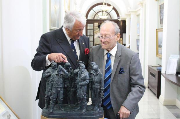 Michael Oliver OBE, of Oliver Valves, with RAF veteran Doug Radcliffe.