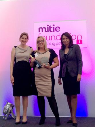 From left, Kate Clarke, head of the Mitie Foundation, Sarah Sanders, Ruby McGregor-Smith, CEO of Mitie