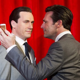 Jon Hamm meets his waxwork in New York
