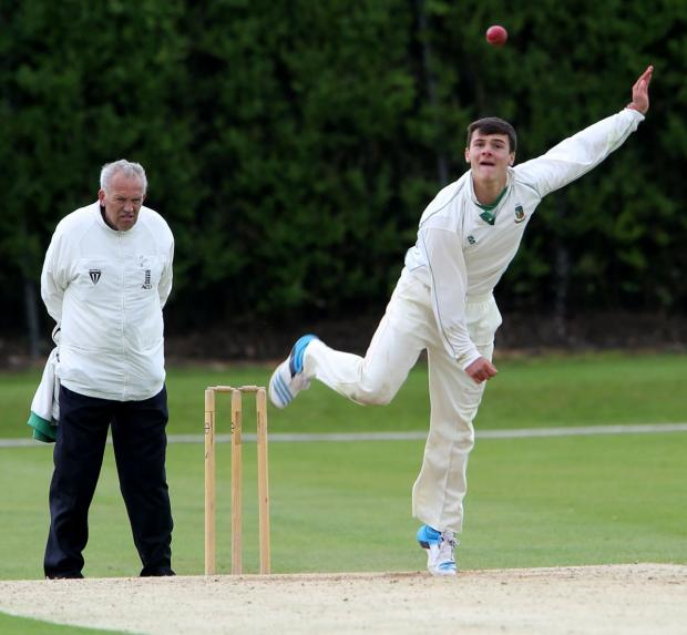 Spinner Rob Jones delivers during Toft's draw at Oxton on Saturday. Picture: STUART BOGG