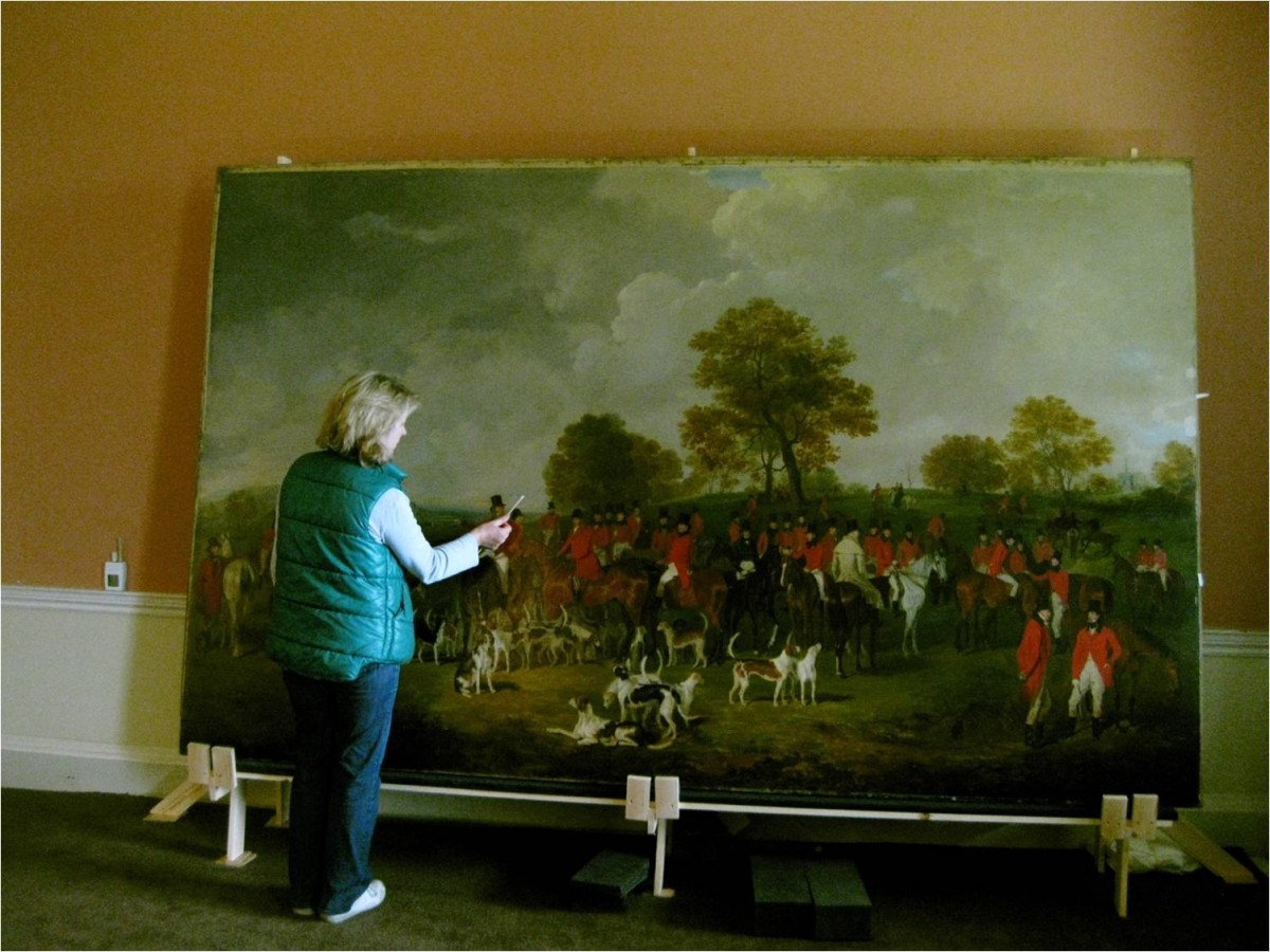 Visitors witness conservation in action at Tatton Park