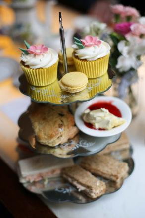 The afternoon tea on offer at Gusto in aid of British Red Cross. Picture: Jonathan Farber