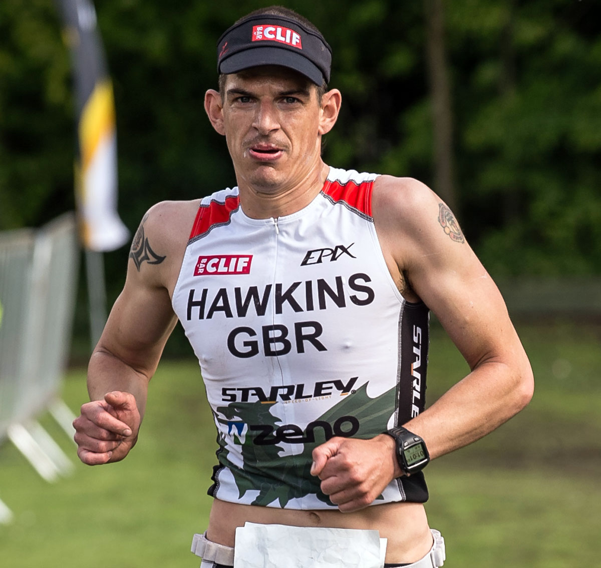 TRIATHLON: Hawkins rolls back years