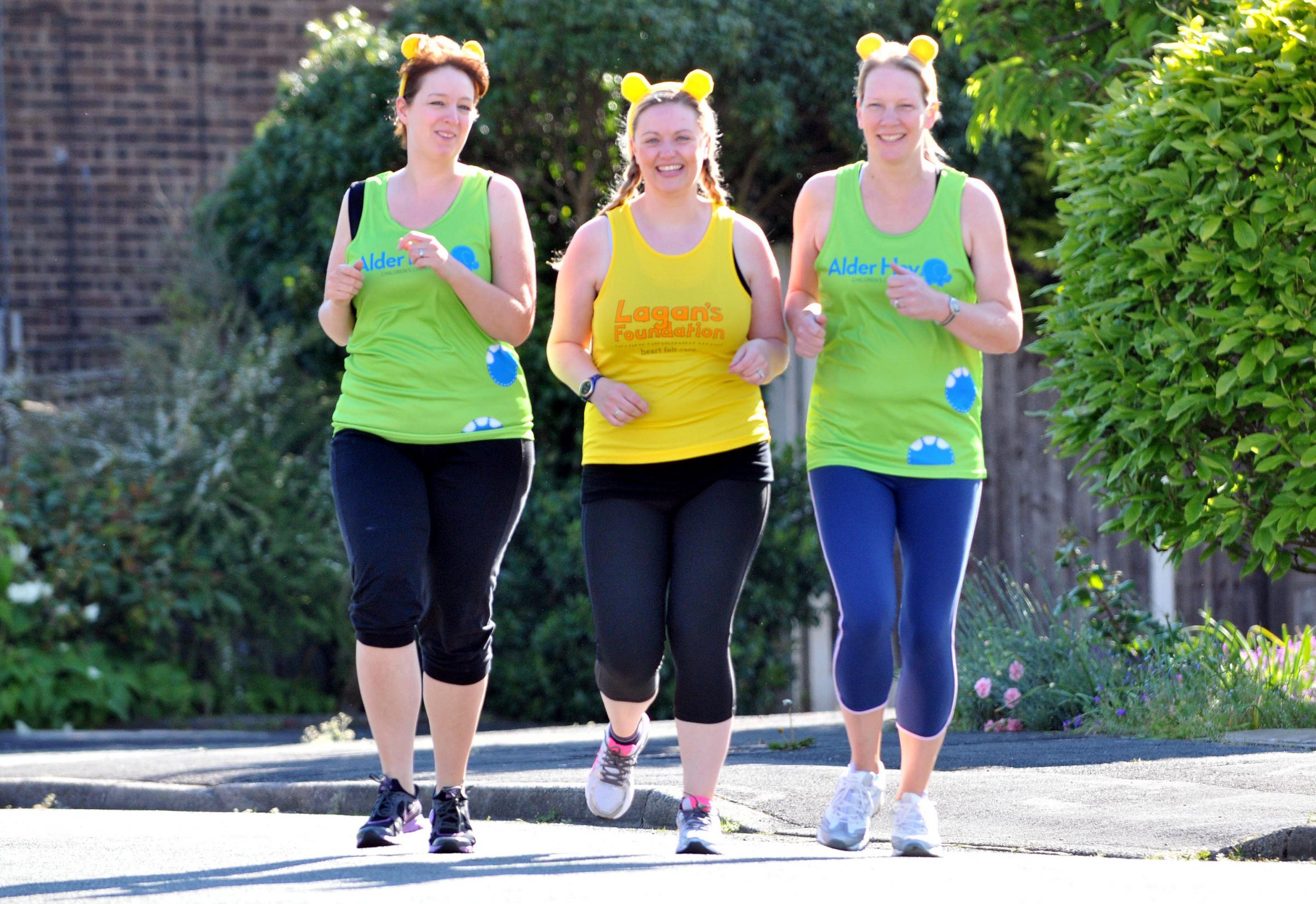 Mums pound the miles for worthy causes