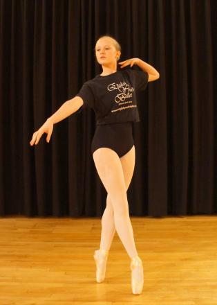 Lauren Batt's poise and talent shined through at the English Youth Ballet auditions
