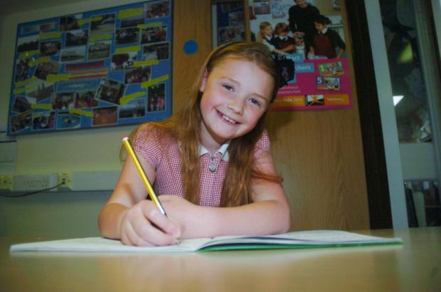 Nine-year-old Francesca Fairhurst has made the shortlist of a national writing competition