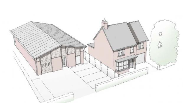 The proposed Scout hut/youth centre and house, for which outline planning approval is to be sought