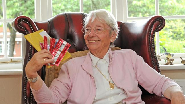 Twice-widowed Sheila Buckley received a package of condoms in the post