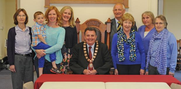 Knutsford Town Mayor Neil Forbes kicked off the start of a new financial year by presenting community grants to Knutsford Royal May Day, Knutsford in Bloom and Egerton Pre-School