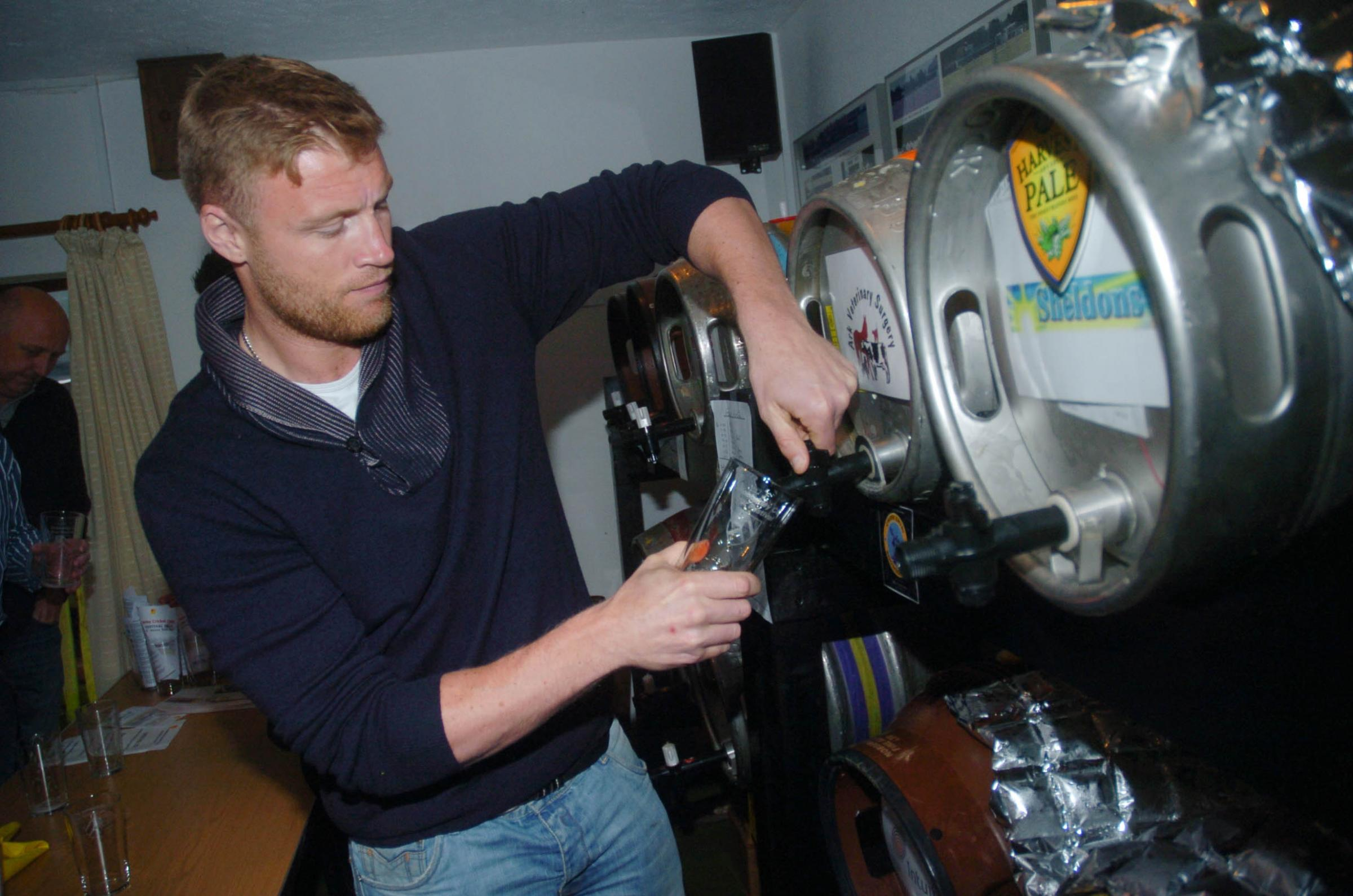 Knutsford Guardian: Andrew Flintoff is guest of honour at beer festival