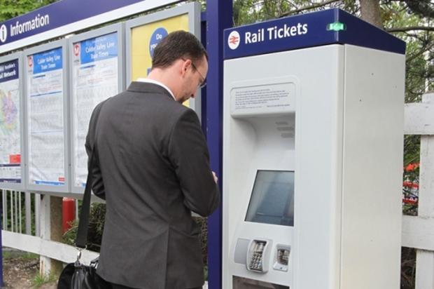 One of the new ticket machines