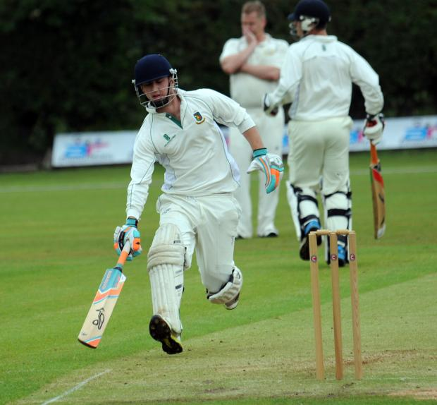 Henry Hughes was at the crease with Rob Jones when Toft reached their victory target against Marple in the Cheshire Cup on Sunday