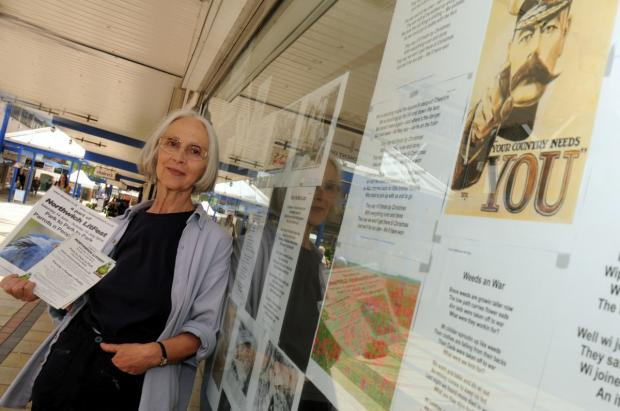 Charlotte Peters Rock at one of her Northwich town-centre exhibitions