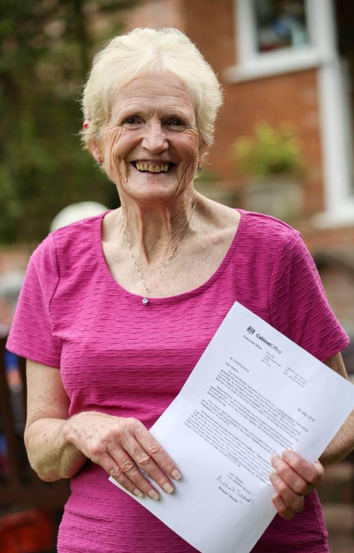Grandmother Valerie awarded MBE in birthday list