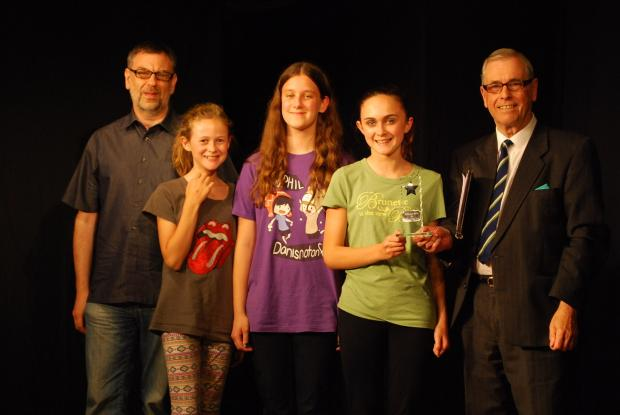 From left to right David Muncaster, Esme Perry, Alannah Roberts, Rowan Perry, David Wood.